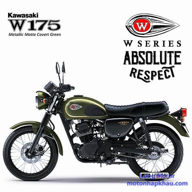 Kawasaki W175 SE Xanh