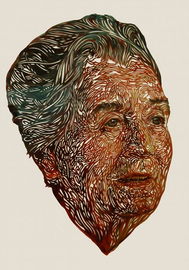Cut Paper Portraits by Kuin Heuff