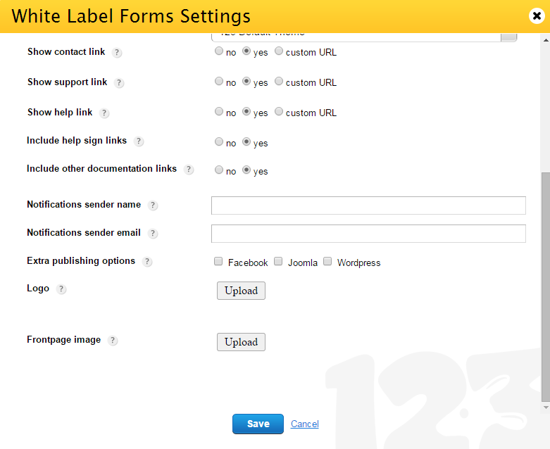 123ContactForm White Label Form Builder