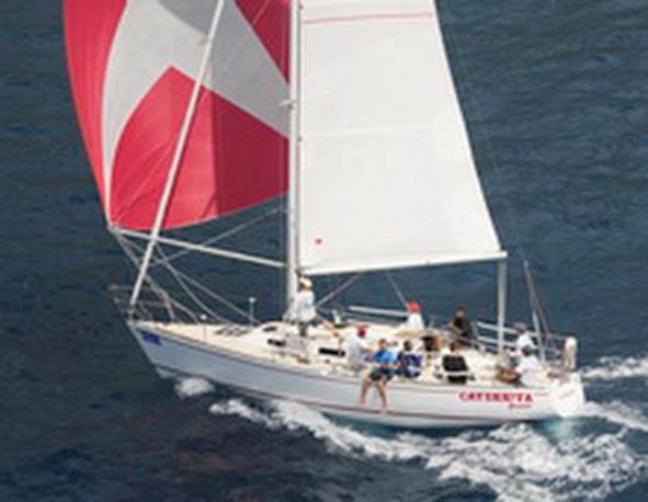 J/36 sailing Caribbean regattas