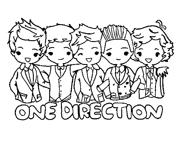 Pinto Dibujos: One Direction para colorear