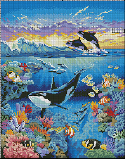 Dolphincross stitch pattern