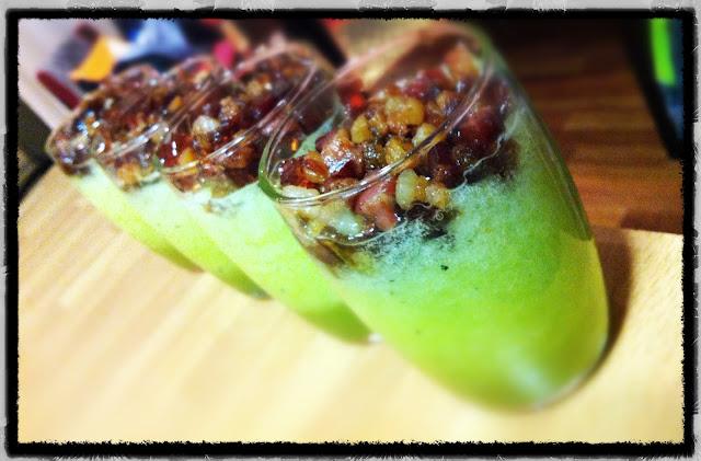 Sopa de Melón con panceta crujiente y gelatina de Oporto restaurante a domicilio Mejor en casa