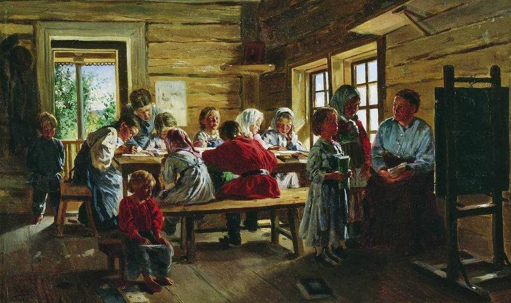 Vladimir Makovsky - At the village school