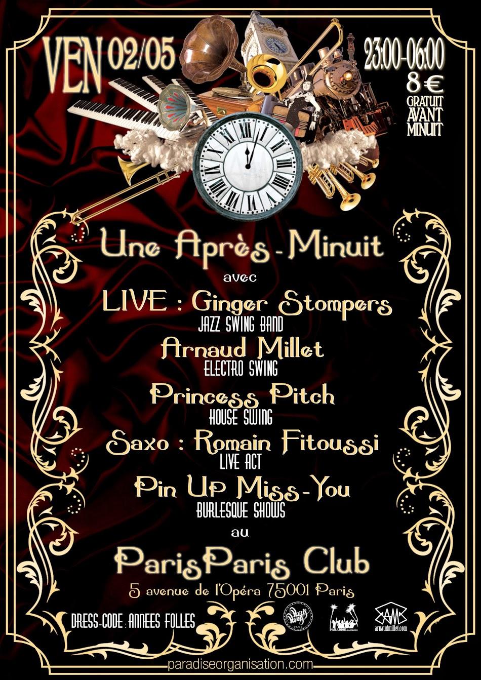 Paradise Organisation - Arnaud Millet - Une Après-Minuit - Vintage - Electro-Swing