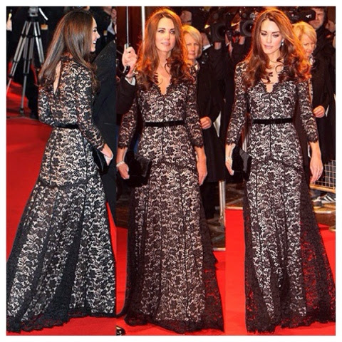Vestido de renda by Kate Middleton