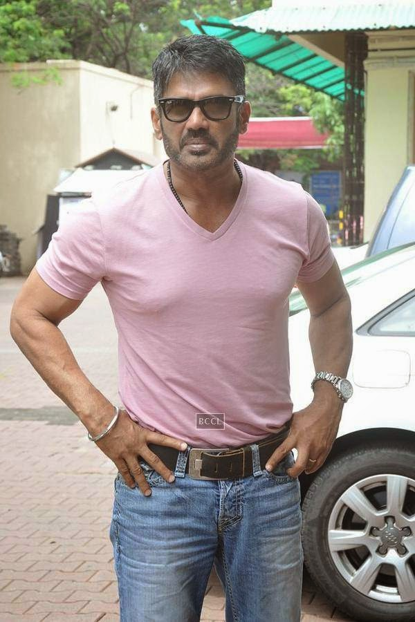 Suniel Shetty during the promotion of upcoming movie Desi Kattey, in Mumbai, on July 14, 2014. (Pic: Viral Bhayani)