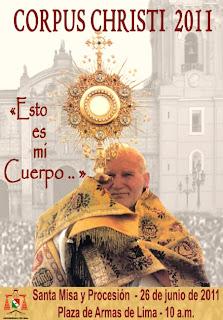 Solemnidad del Corpus Christi en Lima - Perú 2011