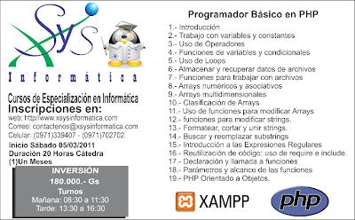 Imagen del Curso Programador PHP Básico en Paraguay