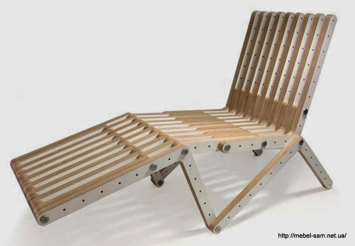 фанерное кресло шезлонг