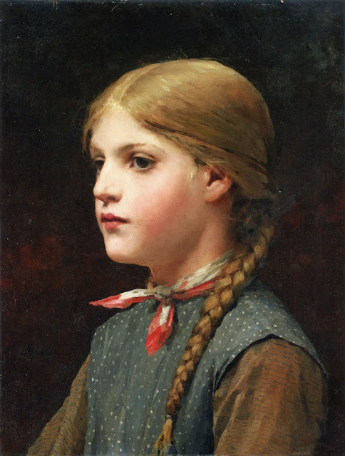 Albert Anker - Portrait of a girl