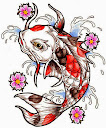 Koi Fish Tattoo Drawing 8