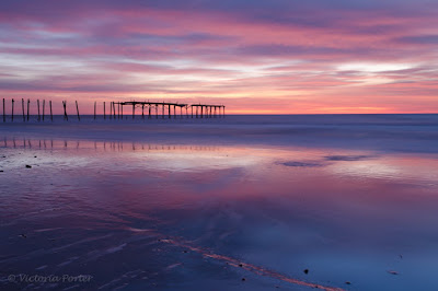 sunrise at the 59th street pier in Ocean City, NJ