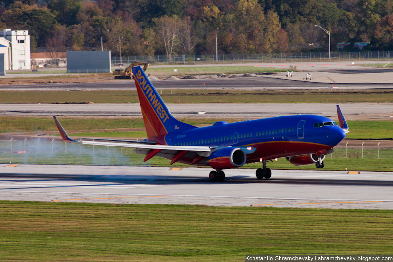 USA Ohio Columbus Southwest Airlines Boeing 737 США Огайо Коламбус