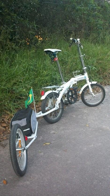 Bicicleta Dobrável + Bike Trailer Dobrável 100_4445