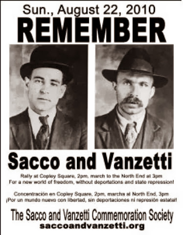 a history of sacco vanzetti conviction and anarchy Sacco and vanzetti's execution date fell on august 23, 1927 while tens of thousands of people protested outside the doors of boston's old charlestown prison, sacco and vanzetti were executed by electric chair.