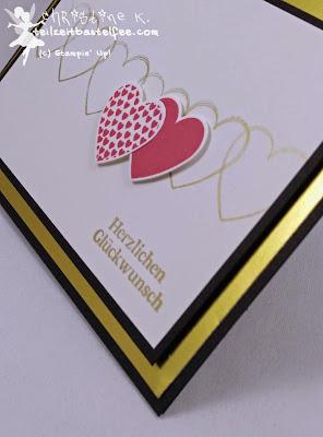 Stampin' Up!, In{k}spire_me, Hochzeitskarte, Wedding Card, Hearts a Flutter, Color Challenge, Duftes Dutzend, Delightful Dozen