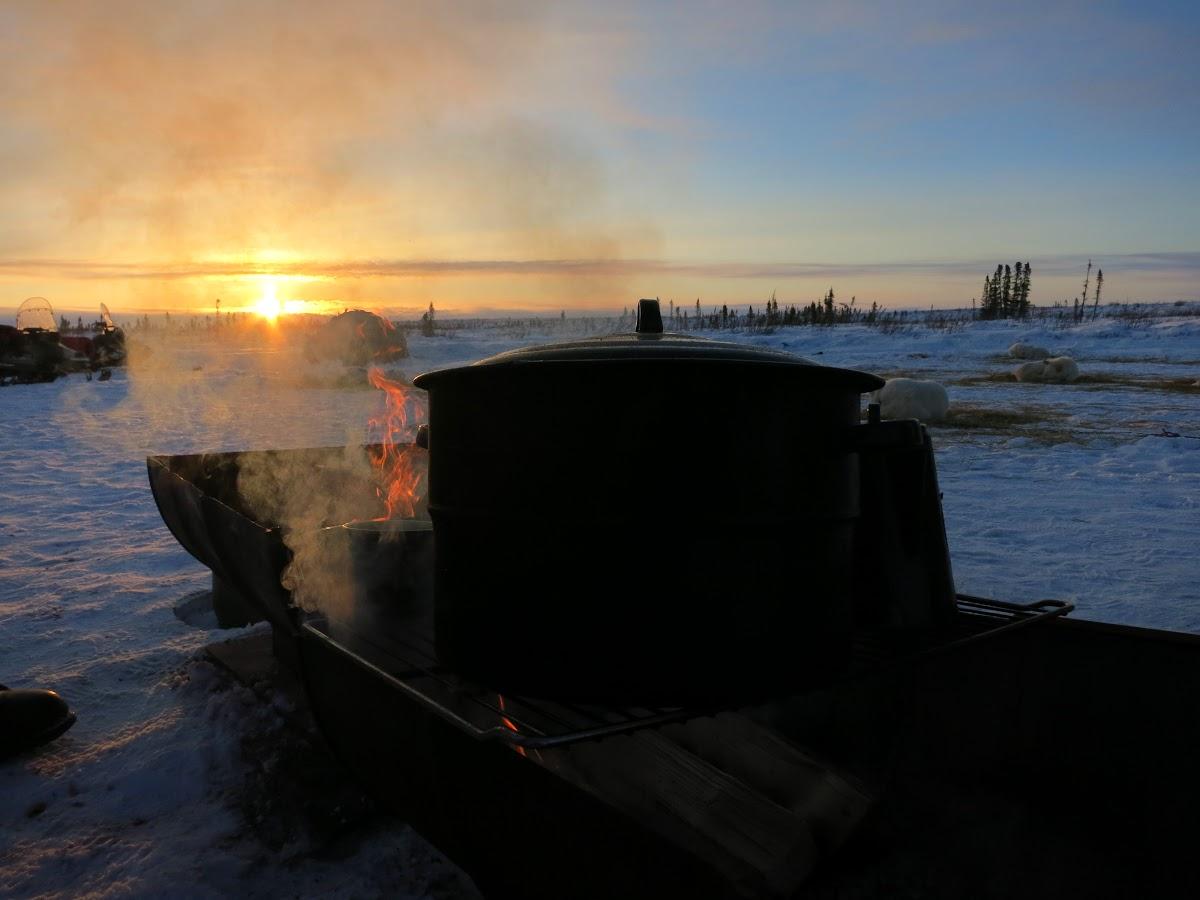 Open fire & hot coffee