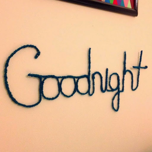 DIY Wire Goodnight Sign