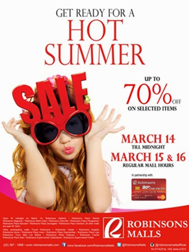 Robinsons Malls sale, summer sale, announcement, shopping