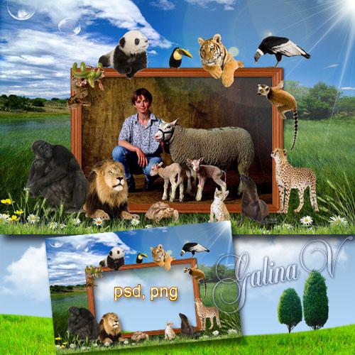 Фоторамка - В мире животных, среди братьев меньших