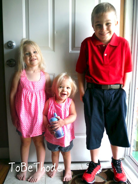 thode kids first day of school