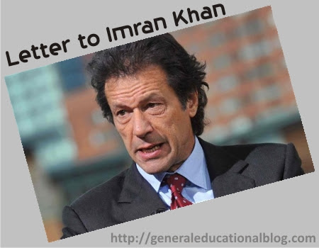 letter to imran khan