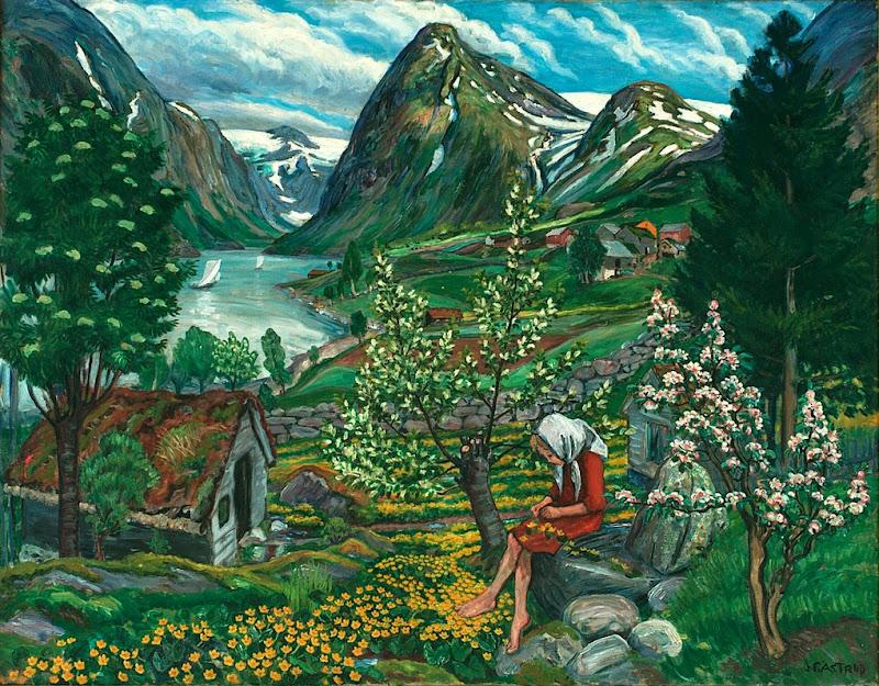 Nikolai Astrup - Kari - Motiv fra Sunde
