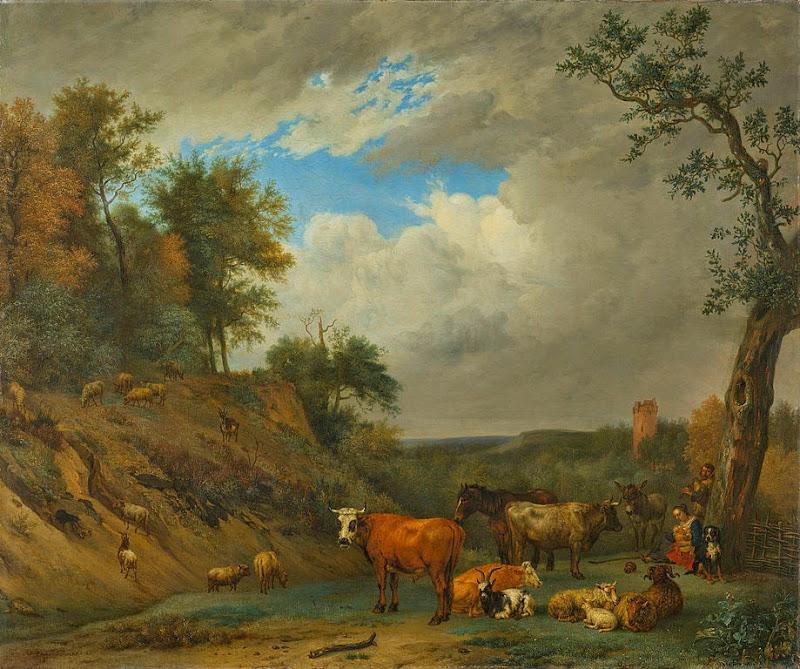 Paulus Potter - Herders met hun vee Rijksmuseum
