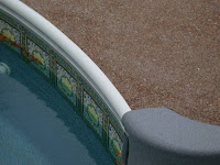 Pool accessories what is a pool coping for Painting aluminum swimming pool coping