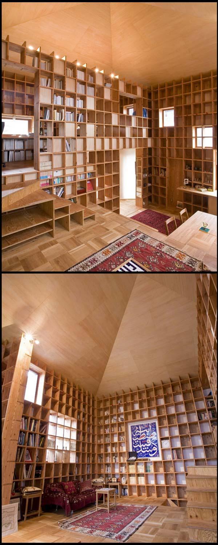 rak 02 Rumah Berkonsepkan Rak Buku di Jepun