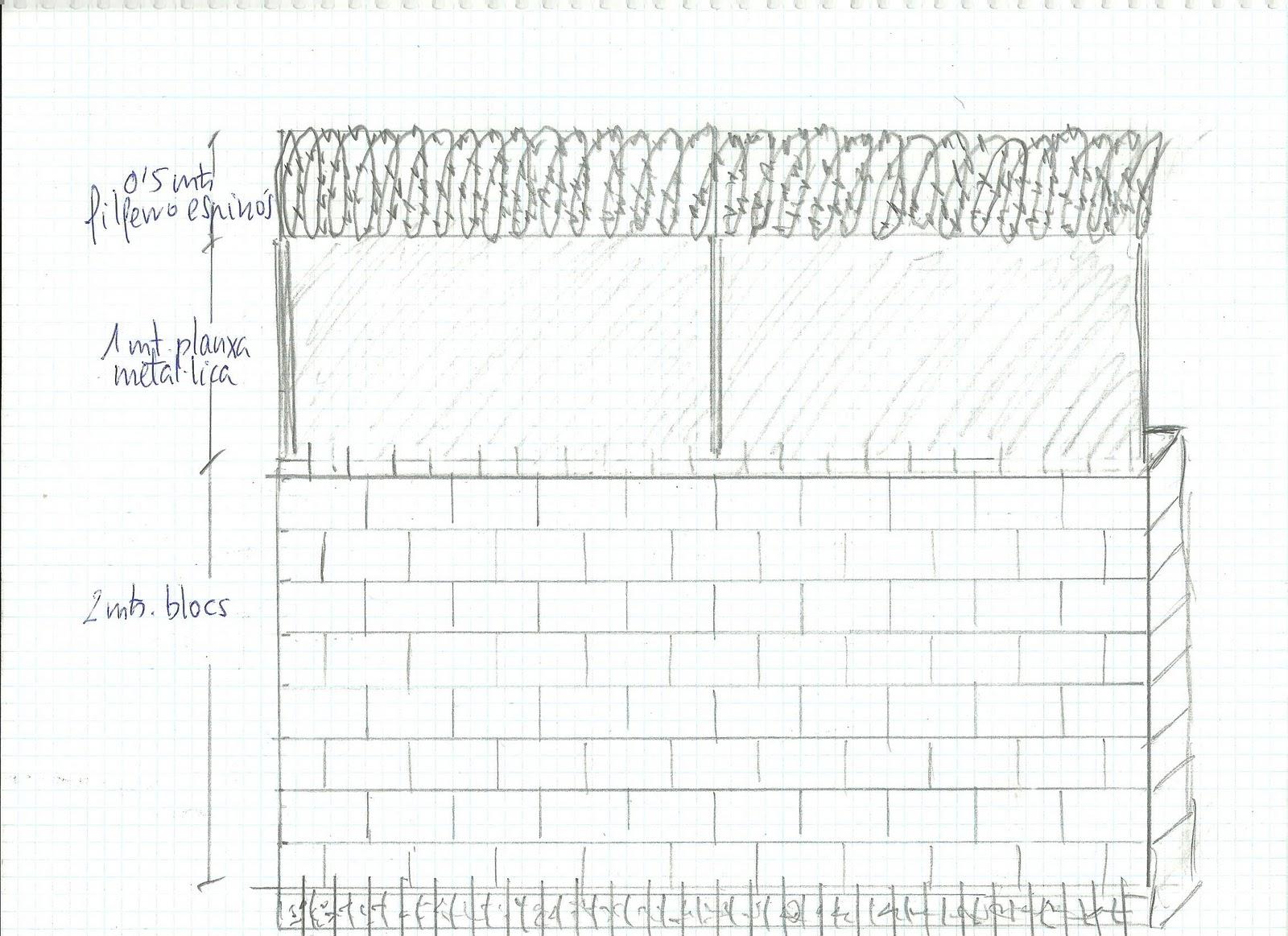 Croquis muro perimetral