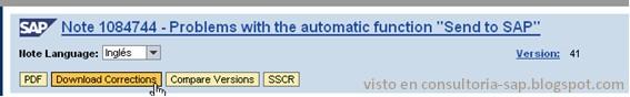 Descargar Nota SAP