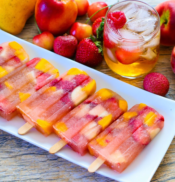 photo of popsicles on a plate