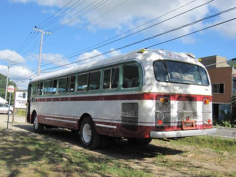 三菱南大夕張鉄道 旧南大夕張駅跡 旧三菱鉱業バス(美鉄バス)  三菱MAR470 リア