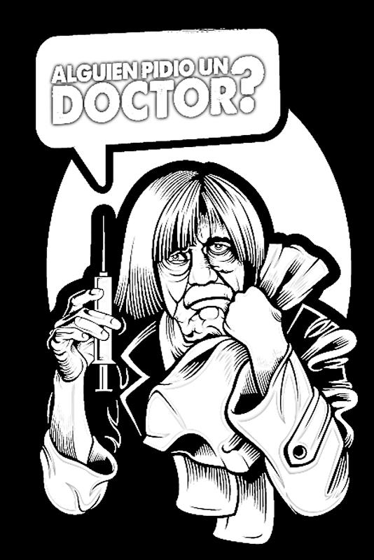 Doctor Chapatín animado para colorear