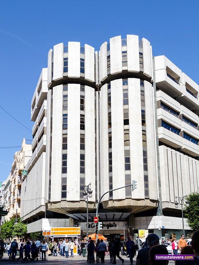 Nikon D5100, 18-55 mm, Edificios y Monumentos, El Corte Inglés, Valencia, Calle Colón, Torres, Fachada,
