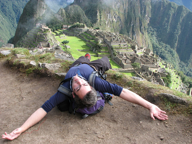 Feeling the heat at Machu Picchu