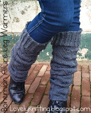 Knitted Bohemian Allure Leg Warmers