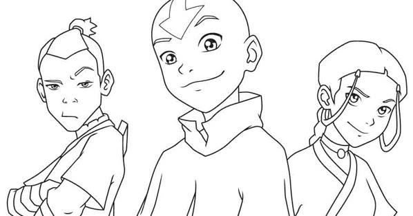 Da color a los héroes de Avatar: Aang, Sokka y Katara   Estado ...