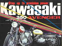 1971 Kawasaki 350 A7b Avenger - Blue Haze VJMC Manawatu