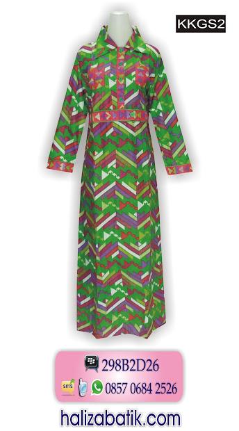 model baju muslim terbaru, model busana batik, gamis batik modern