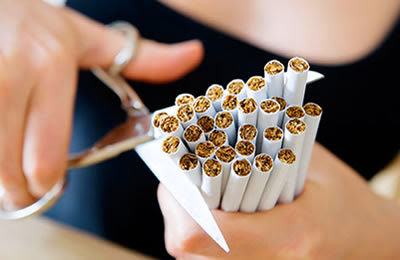 Stop smoking to maintain perfect skin