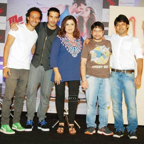 Farah Khan poses with Mad About Dance cast during its trailer launch at Fun Republic, on July 16, 2014.(Pic: Viral Bhayani)