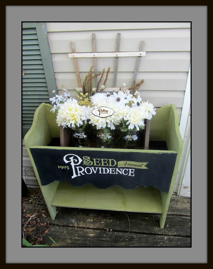 Planter with Antique Typography
