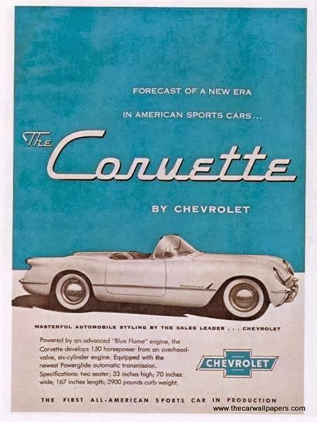 Collection of Chevrolet Corvette Advertisements