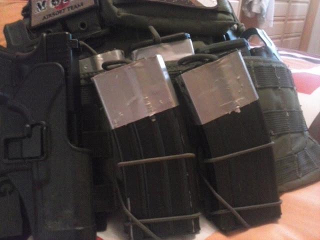 Pouch molle rápido para cargadores m4 casero CAM00193