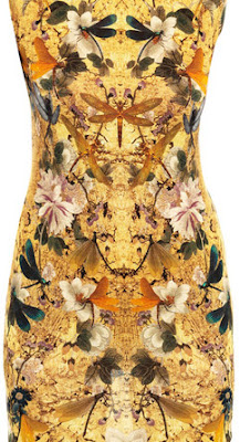 Alexander McQueen hummingbird print dress