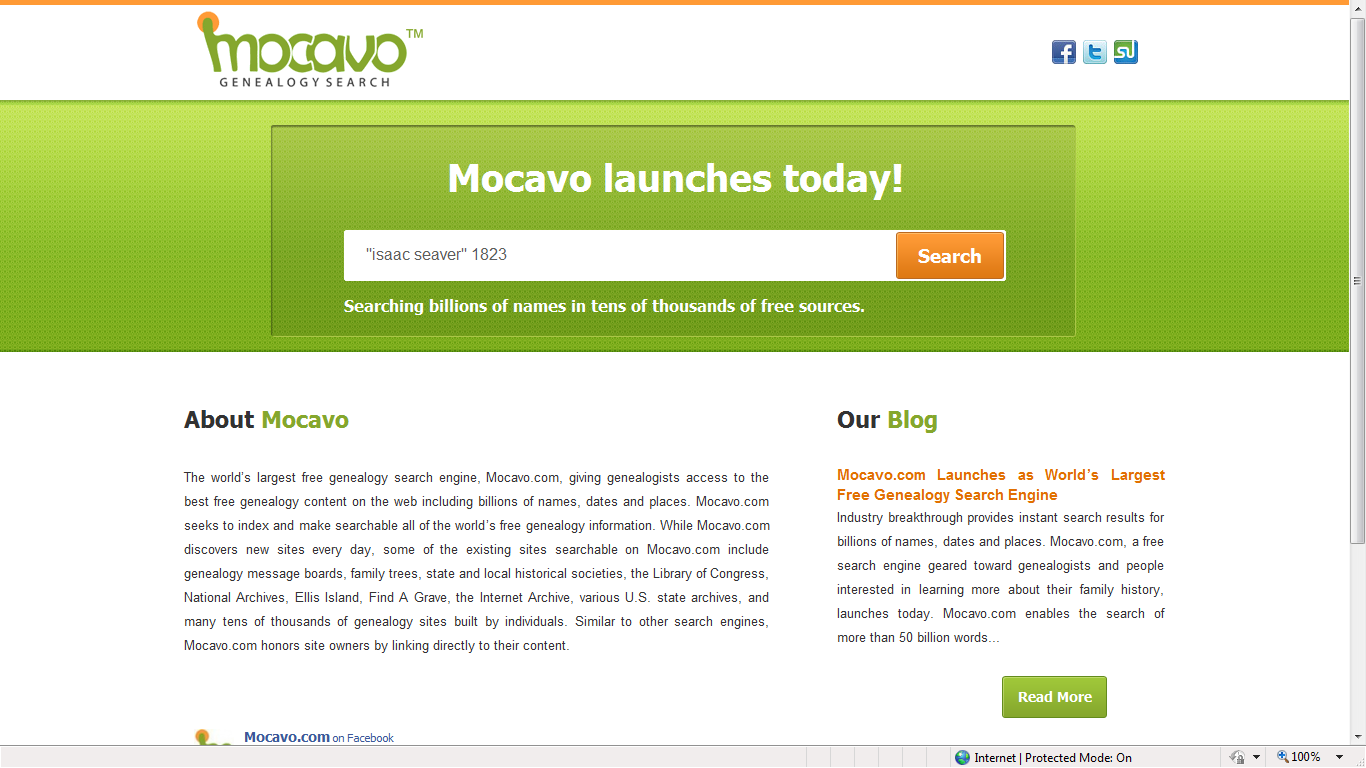 Genea-Musings: First Look at Mocavo - A New Genealogy Search