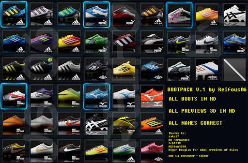 Bootpack (44 boots) V.1 - PES 2012